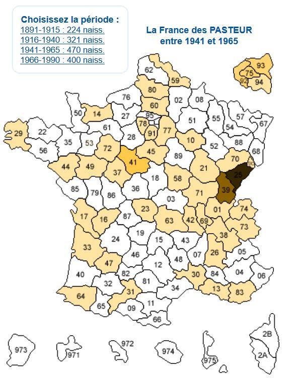carte-de-france-des-pasteurs-1941-1965